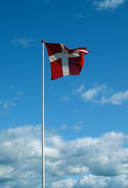 vacanza vacanze danimarca soffiare bandiera pennone