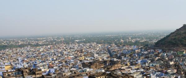 casa costruzione citta india fotografia aerea