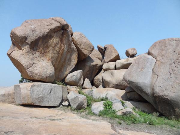 pietra sasso luce soleggiato india rocce