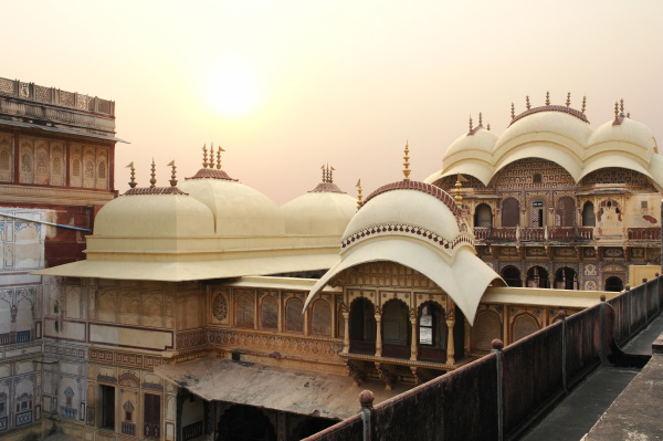 casa costruzione storico citta india sera