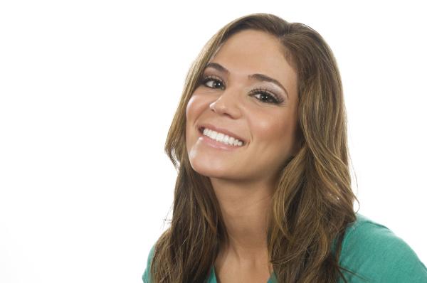 smiling woman stylish