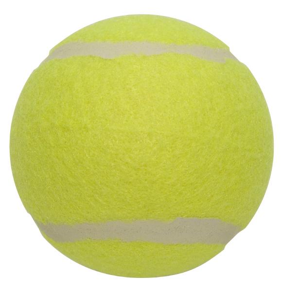 palla da tennis da vicino