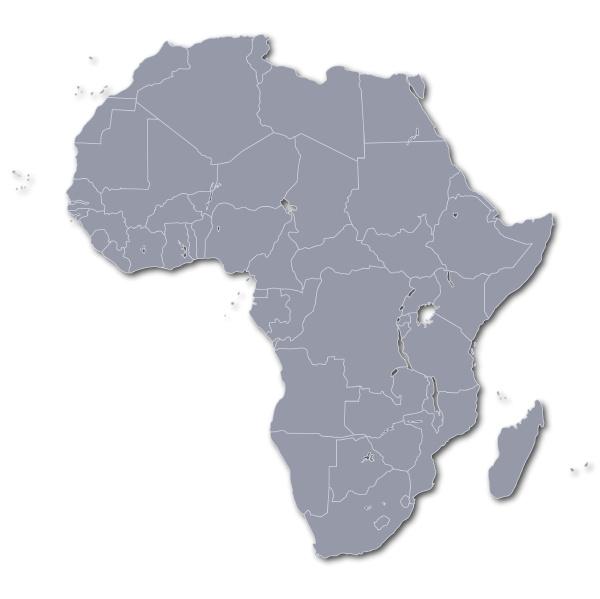 mappa della geografia africana