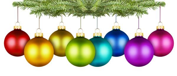 ramo arcobaleno decorazione albero di natale