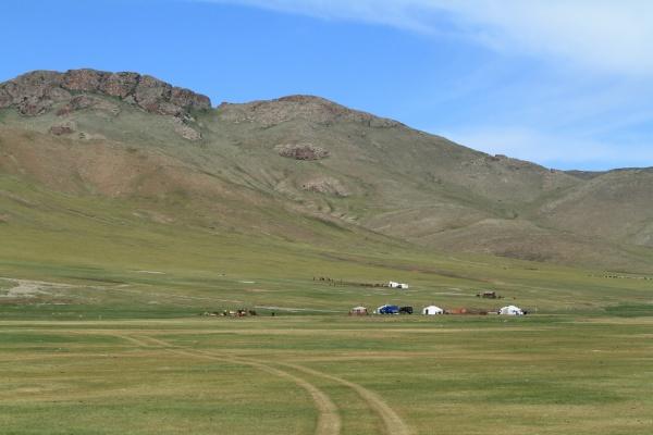 collina asia mongolia steppa paese montagnoso