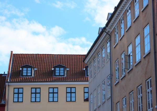 blu citta finestra nuvola allaperto fuori