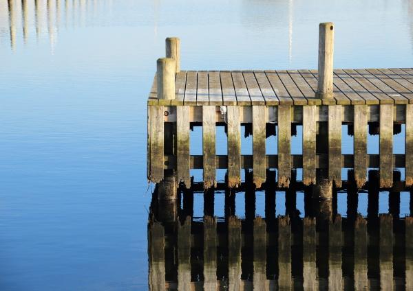 blu legno molo pontile