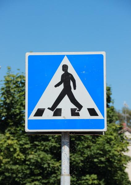 segnale andare pedonale incrocio passerella pittogramma