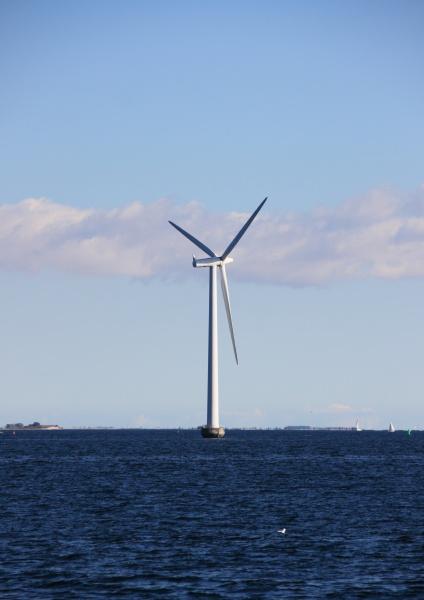 mulino a vento a mare singolo