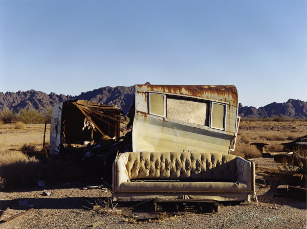 arredamento deserto orizzontale rotto allaperto posto