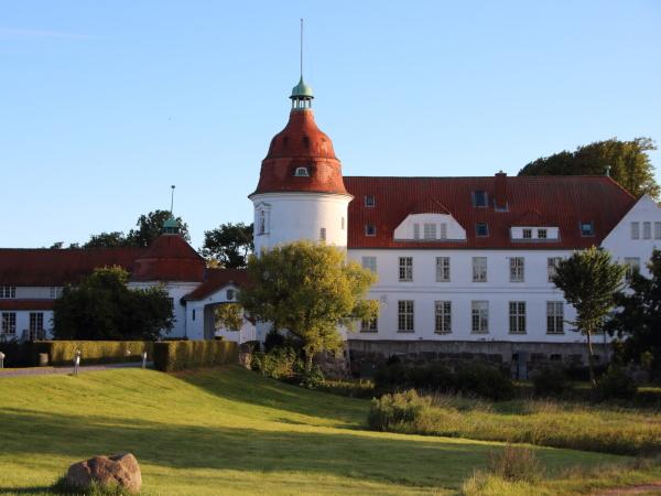 nordborg castle danimarca al tramonto con