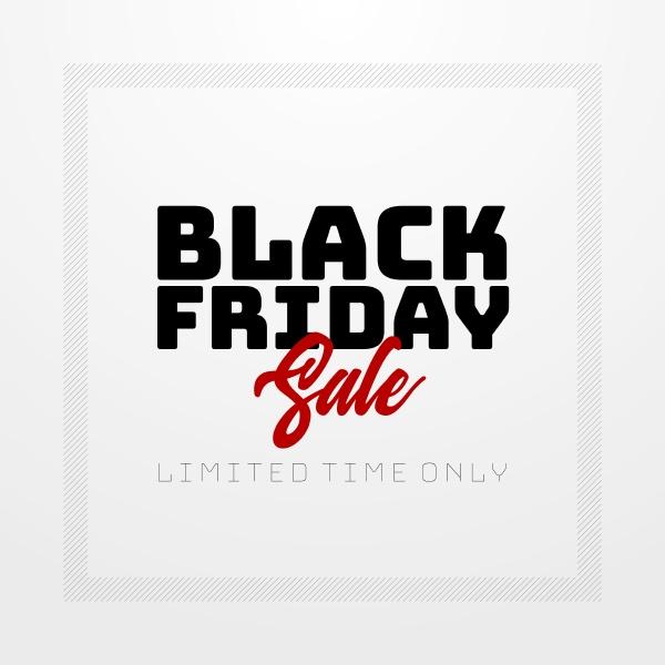 design banner vendita stagionale del black