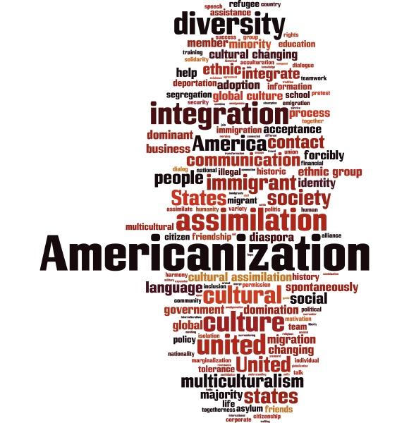nuvola di parole di americanizzazione
