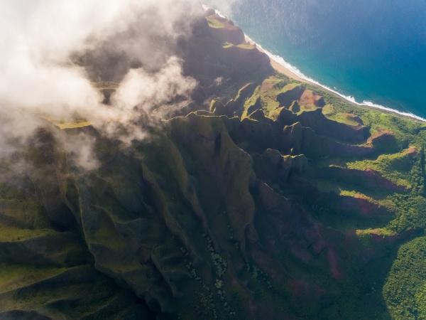 veduta aerea dell alta formazione montuosa