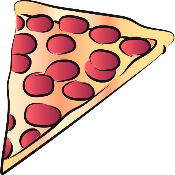 fetta di formaggio pepperoni pizza vettore