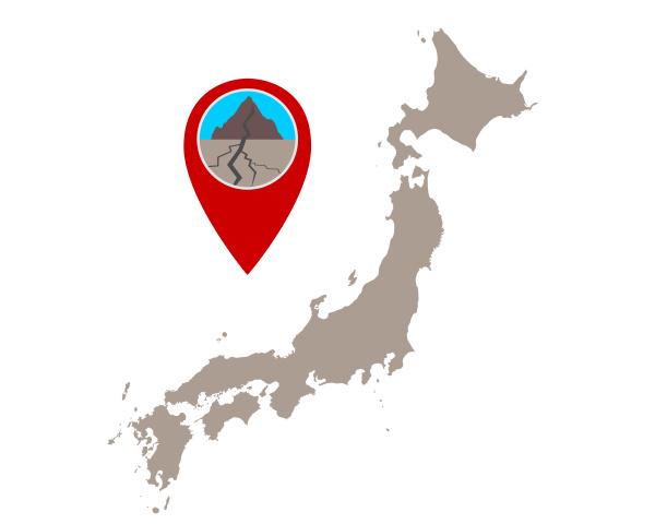 karte von japan und pin con