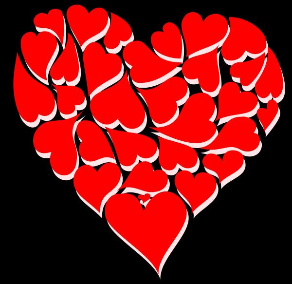forme, a, cuore, rosso, con, illustrazione - 28215339