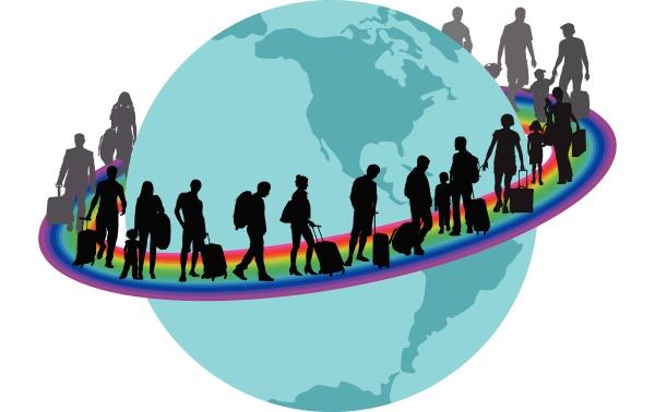 viaggiatori migrantson sull arcobaleno