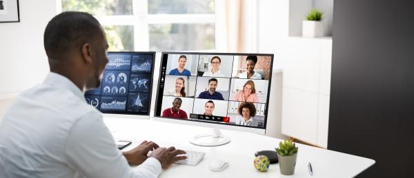 riunione webinar di apprendimento per videoconferenze