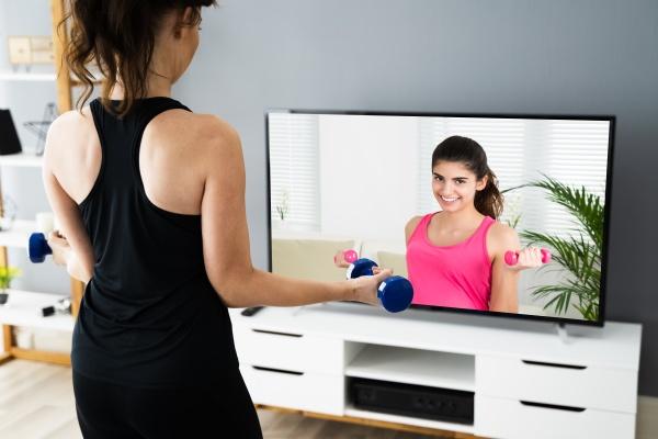 allenamento di fitness online tv home