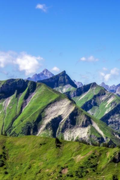 austria tirolo vista panoramica delle cime