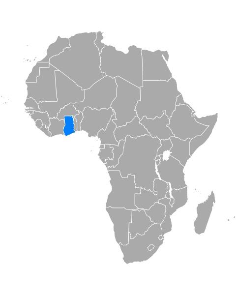 mappa, di, ghana, in, africa - 29265549