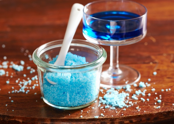 zucchero blu fatto in casa aromatizzato