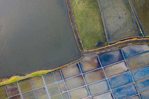 veduta aerea degli stagni di evaporazione