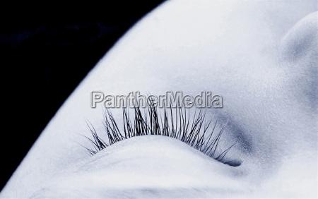 ritratto occhio organo nero caucasico bianco