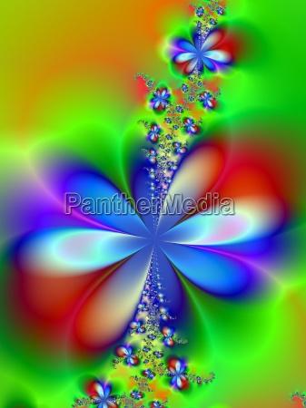 blu esperimento grafico fiore verde croce