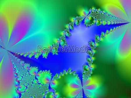 blu verde frattale computer natura e