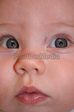 primo piano close up bocca occhi