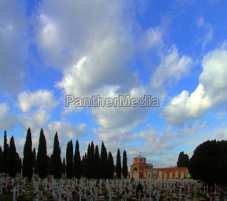 blu fede chiesa morte paradiso croce
