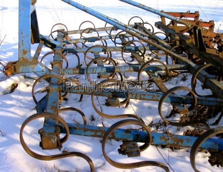agricoltura arrugginito erpice coltivazione ackergeraet landwirtschaftliches