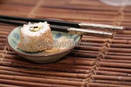 asia freddo asiatico sfocato sushi imprecisione