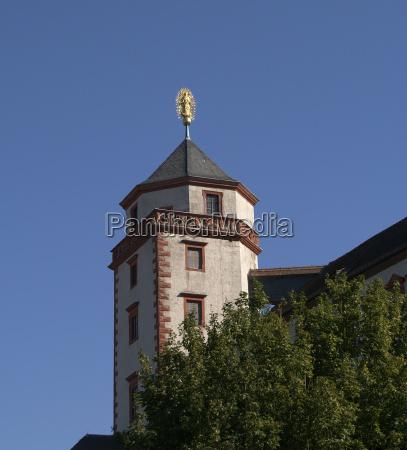 blu torre statua fortezza cielo firmamento