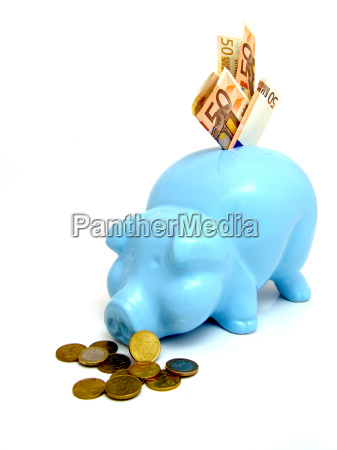 banca blu consumo euro valuta denaro
