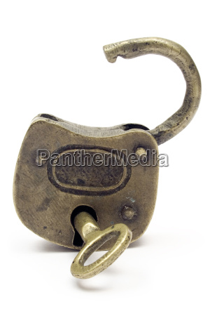 opened padlock gold