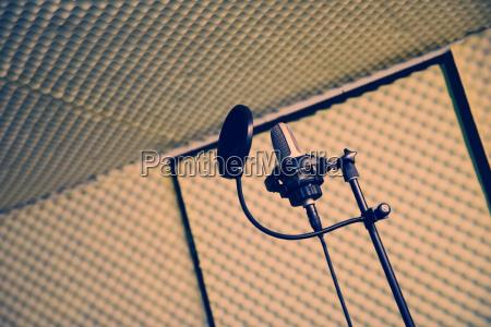 musica assorbire cantare microfono registrazione incisione