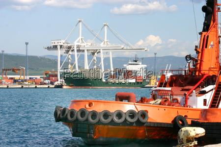 nel porto di koper