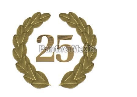 corona di alloro 25 anniversario