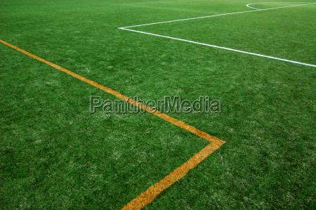 verde campo astratto arancione campo di