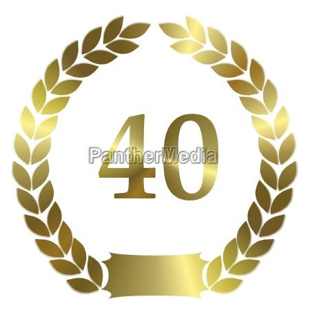 jubilaeum 40 years
