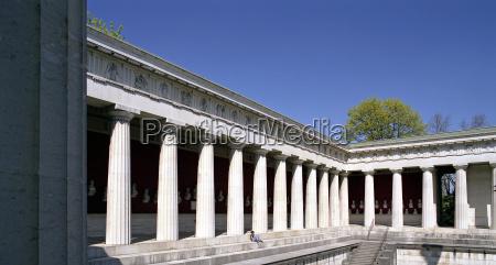storico antico turismo colonne baviera primavera