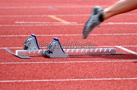 dettaglio sport dello sport pista atleta