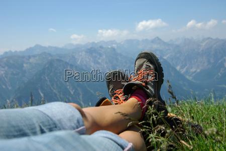 gambe montagne vacanza vacanze alpi escursione