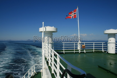 norvegia bandiera postale traghetto cielo firmamento