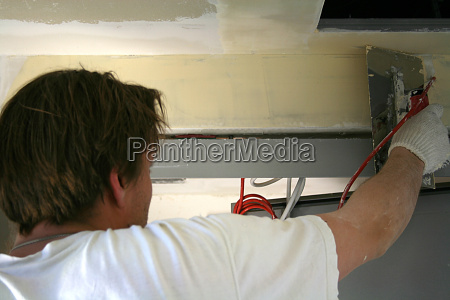 drywall installers at work