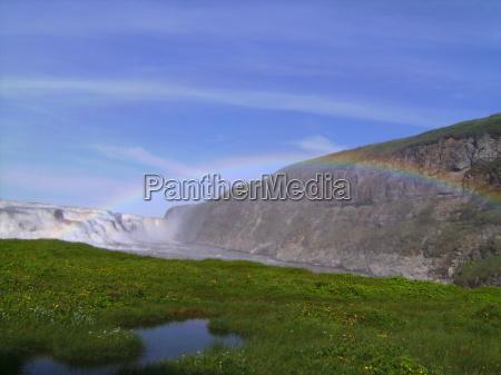 arcobaleno potente islanda energia idraulica forza