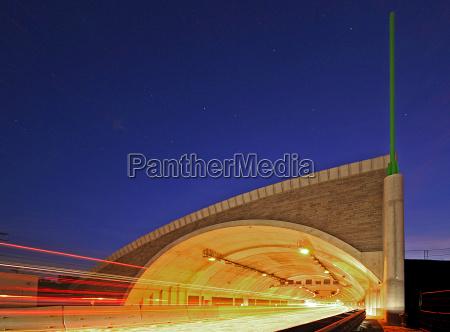 tunnel autostrada jena autobahntunnel blaue stunde